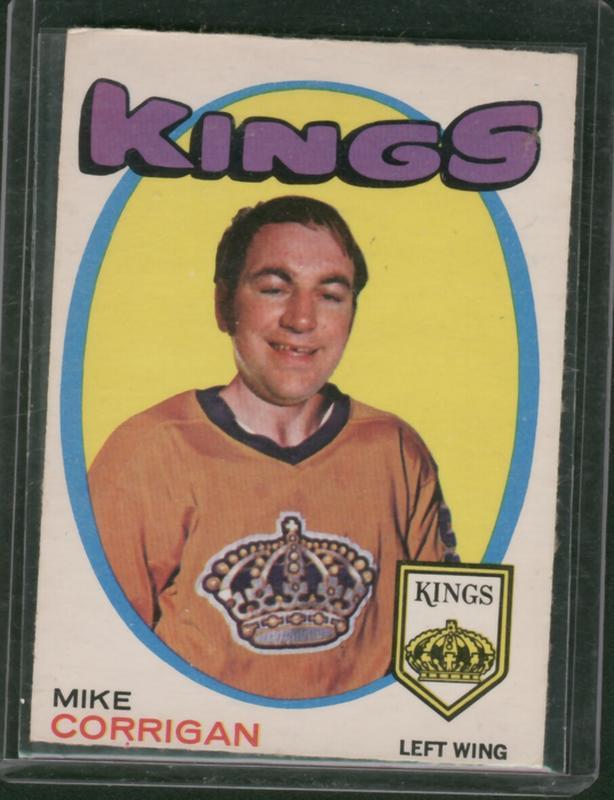 71-72 O Pee Chee  Mike Corrigan Los Angeles Kings