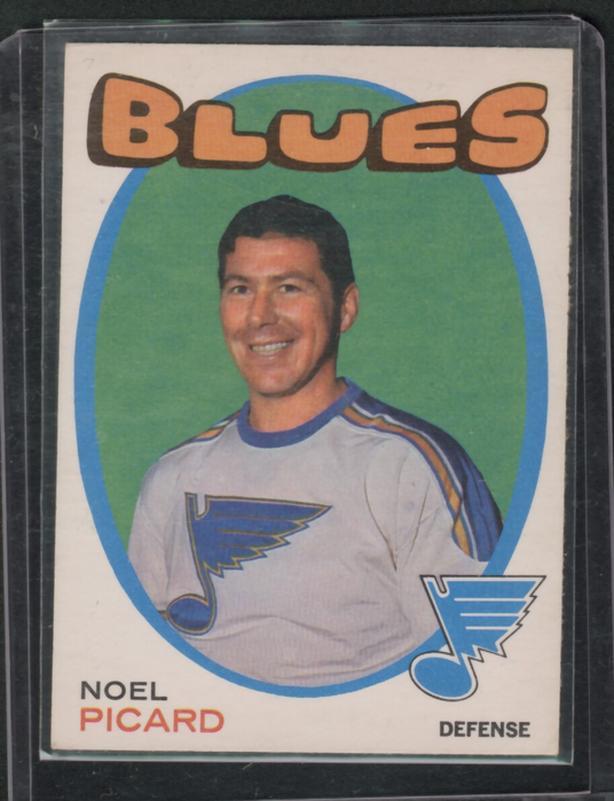 71-72 O Pee Chee Noel Picard St. Louis Blues