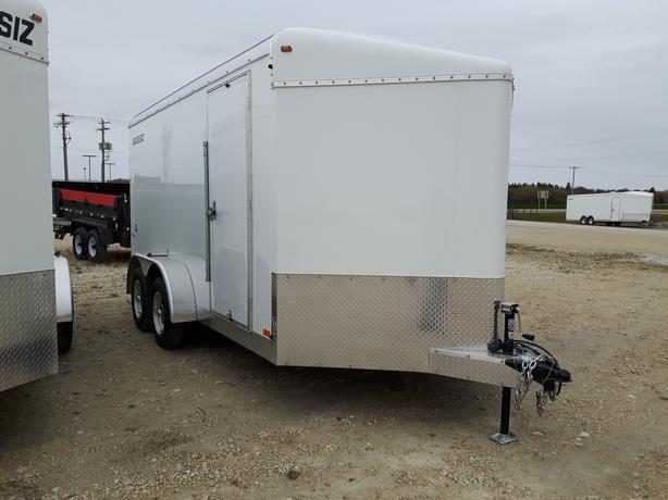 2020 Agassiz 7X14X80 Enclosed Cargo Trailer Ramp Door HH4518