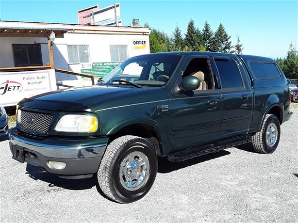 2002 FORD F150 LARIAT SUPERCREW 4X4 LIVE FOR AUCTION!