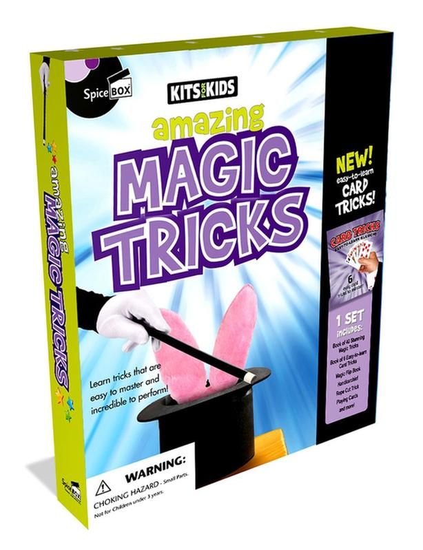 Amazing Magic Tricks Kit, new, for children's ages 8 and up.  NEW,