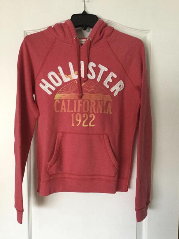 Hollister pink pullover hoodie size large. junior-teen-girls EUC