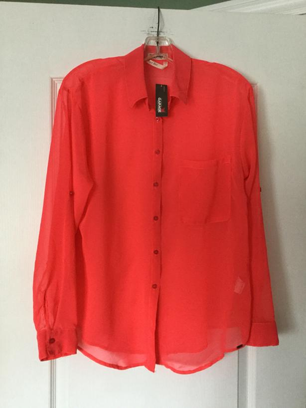 Chiffon blouse from GARAGE. Size medium. Brand new. Tag still attached
