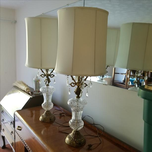 Pair of Cyrstal Table Lamps