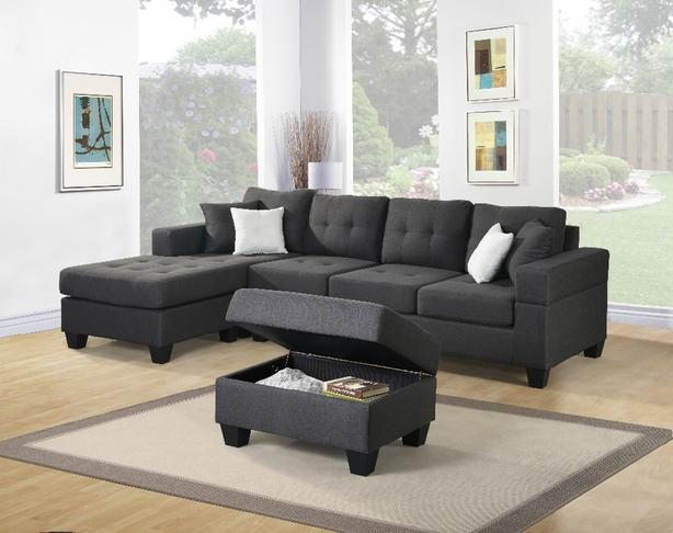 Brand New European 4 seater lounge sofa - Color - Charcoal Grey