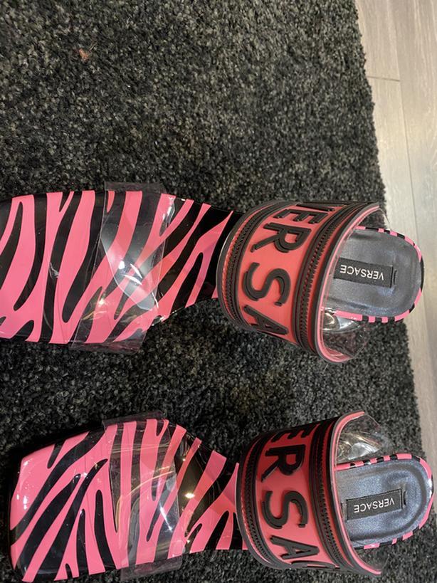 Pink Versace heels