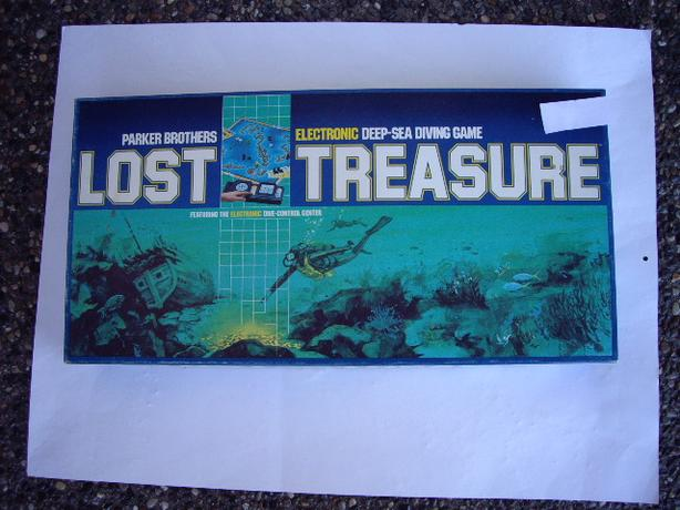 LOST TREASURE 1982, WITH INSTRUCTION BOOK