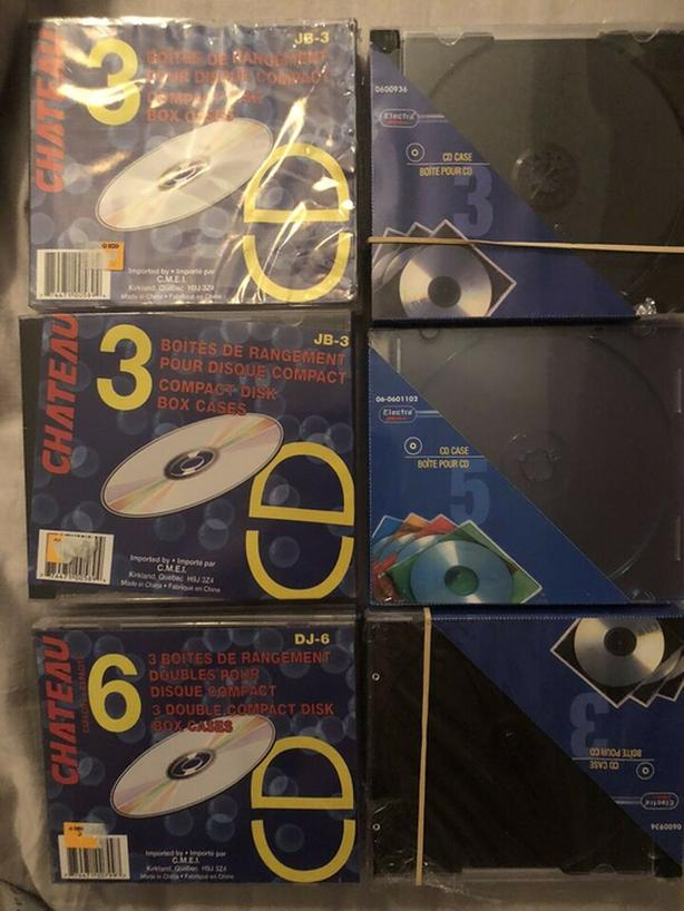 Brand New Plastic CD Cover 16 single and 3 Double - $5 for all