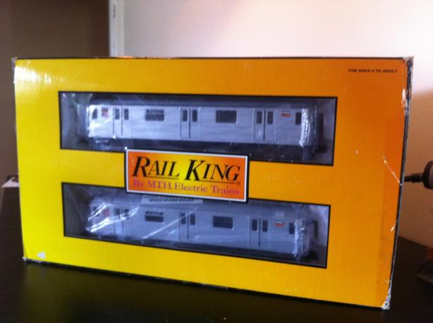 Model railroad subway car set (O scale)
