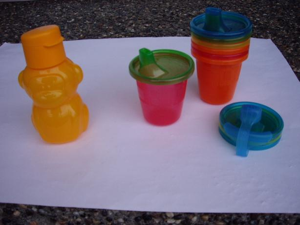 CHILD SIPPY CUPS set 6 / MONKEY CAR CUP