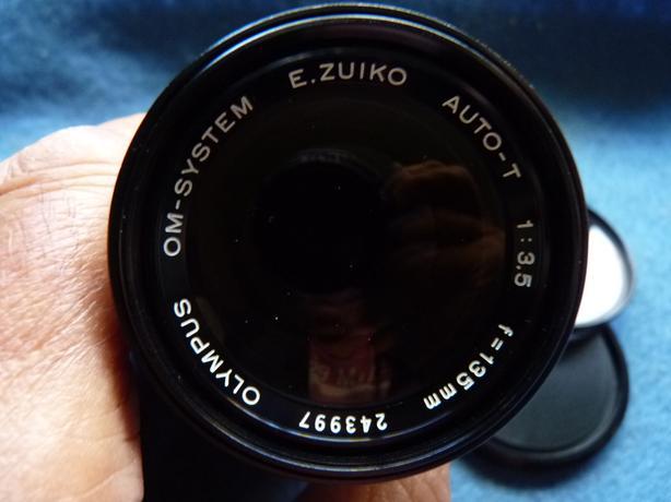 Olympus OM System Zuiko Auto-T 135mm 3.5 SLR Camera Lens, Mint
