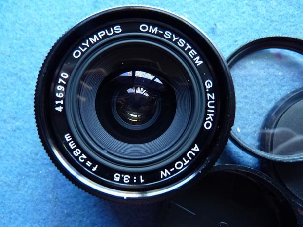 Olympus OM System Zuiko Auto-W 28mm 3.5 SLR Film Camera Lens, Mint