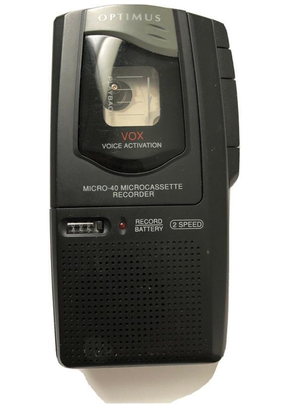 Optimus Micro 40 microcassette recorder
