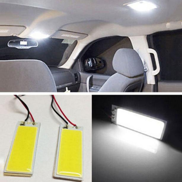 New Vehicle Interior Light 36-COB LED Panel Bulb Light 12V White.