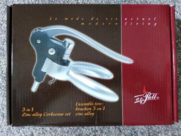 New ezPull 3 in 1 3 piece corkscrew set