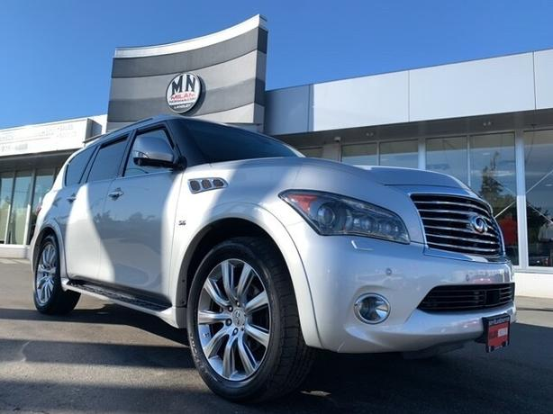 Used 2014 INFINITI QX80 Deluxe Touring 5.6L V8 4WD NAVI SUNROOF DVD 8-PASS SUV