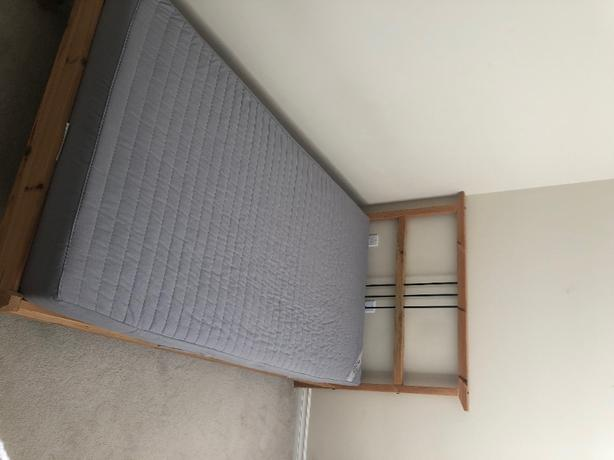 like new bed frame + mattress for sale