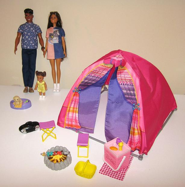 Barbie Doll Family #1 & Camping Tent & Accessories