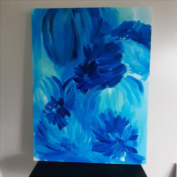 "Original Acrylic Painting on Canvas, 30"" x 40"""