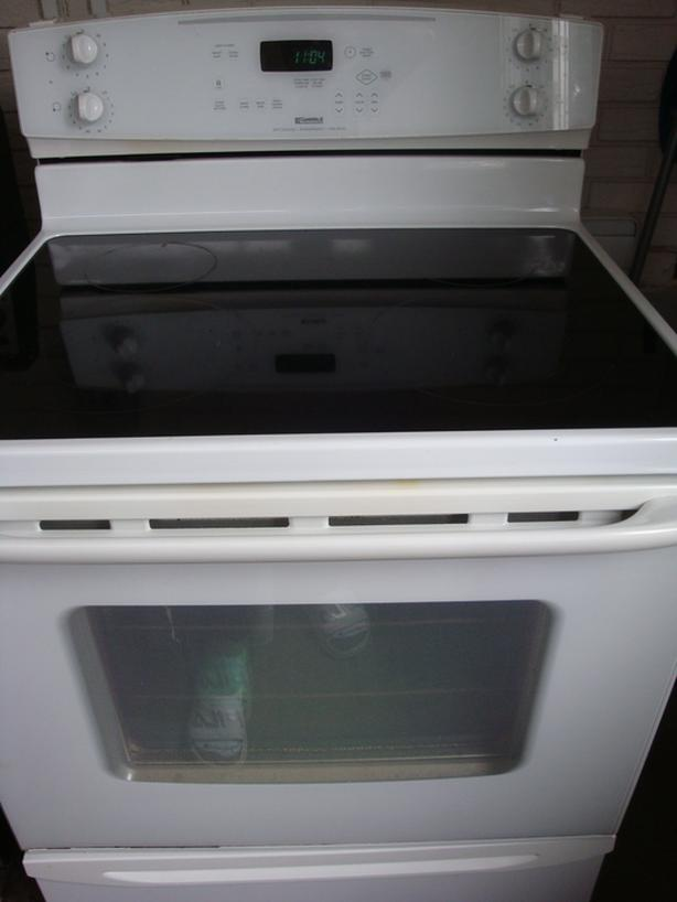 Kenmore flat top self clean stove with touch control