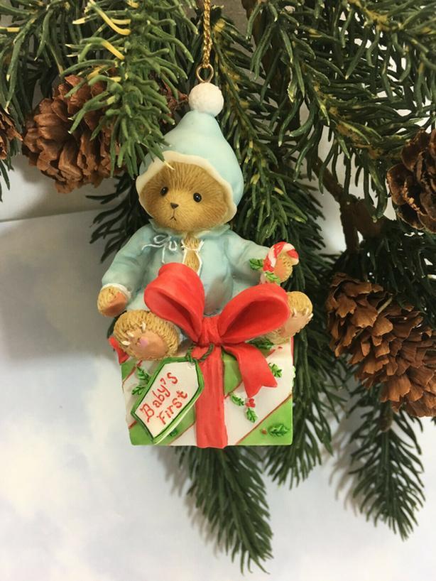 New Cherished Teddies Ornament 2008 Boy - Baby's First Avon - $40