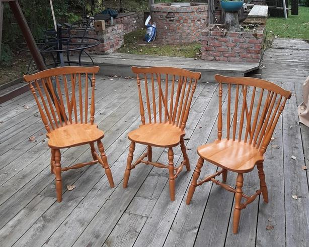 3 LARGE WINDSOR CHAIRS