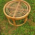 Vintage stool with cushion