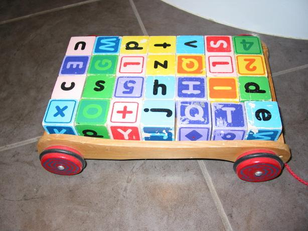 Child Wood Block Set + Cart Set