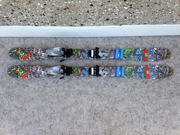 Ski 110 Head Multi Print Twin Tipped Parabolic With Bindings