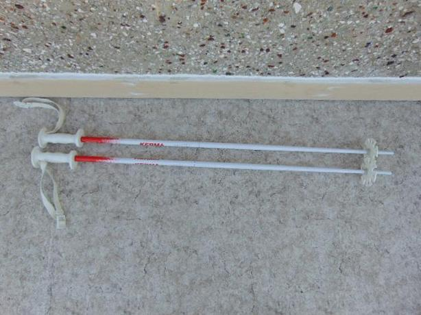 Ski Poles Adult Size 45 inch Kerma White Red