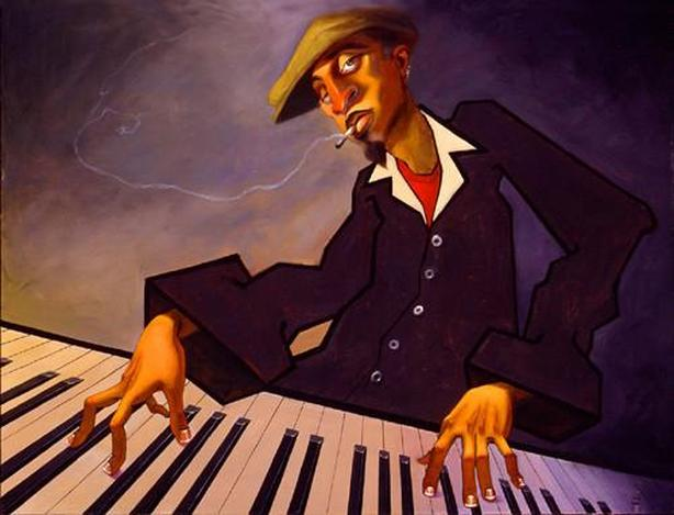 Framed picture/painting: Piano Man II
