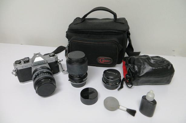Pentax Camera with Lens