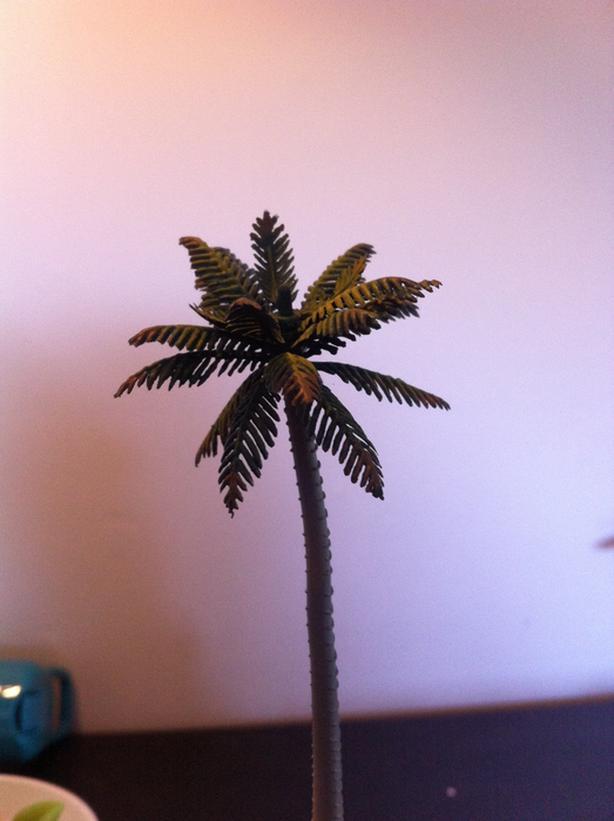 Model railroad palm trees (O scale)