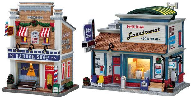 Lemax Village Collection miniature porcelain buildings (O scale-ish)