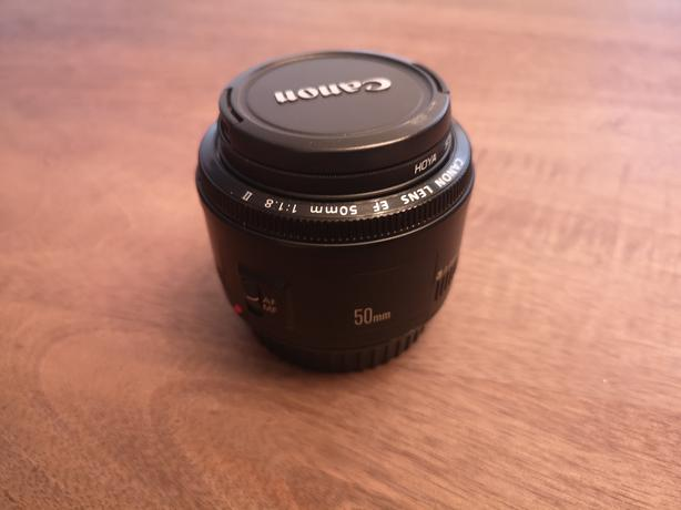 Canon EF 50mm f/1.8 with Hoya UV filter