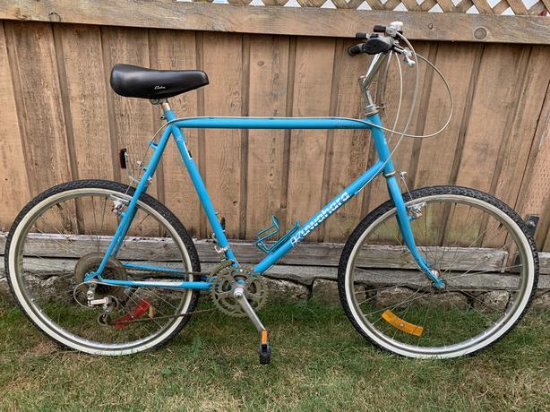 Large Blue Kuwahara Mountain / Cruiser Bike - Mint Condition!