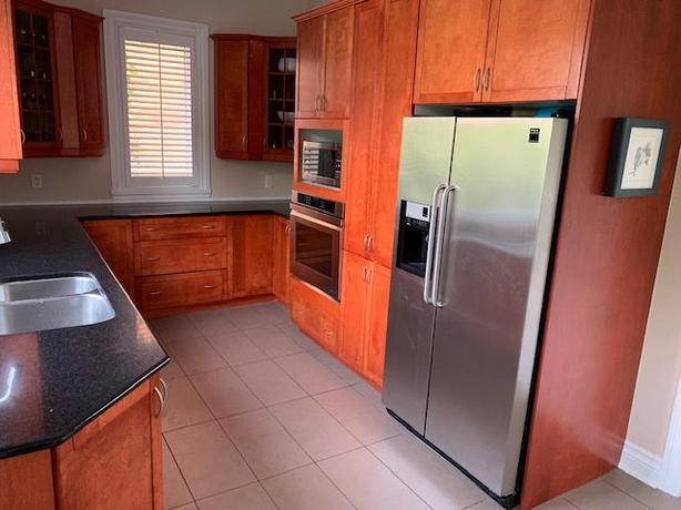 Solid Wood Kitchen Cabinets  and Granite Worktops + Fridge