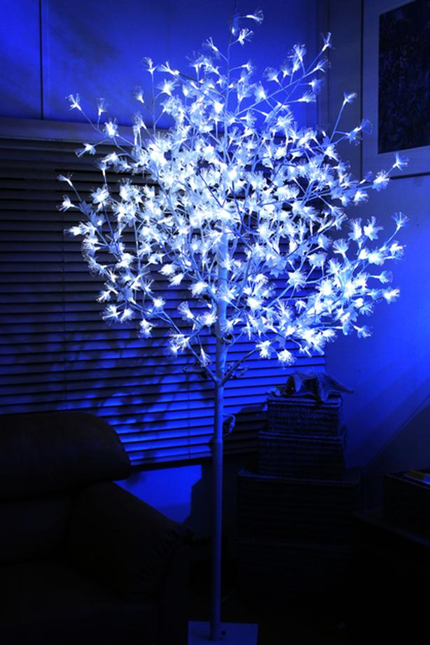 NOMA indoor outdoor fibre optic LED lit white tree