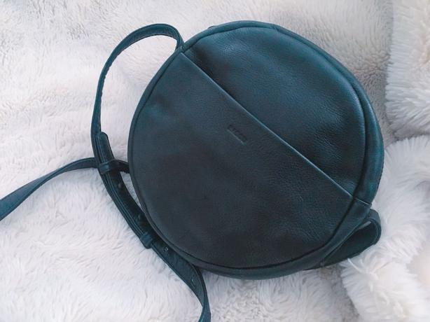 Special shape handmade bag with soft leather