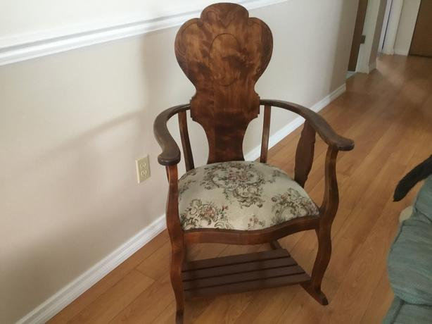 Vintage straight back rocking chair