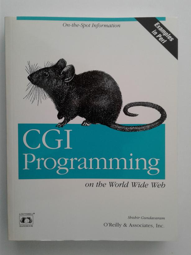 CGI Programming book for sale
