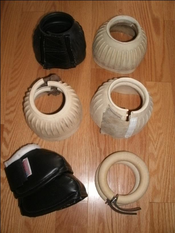 Horse Bell Boots & Fetlock Rings - Size Medium and Large