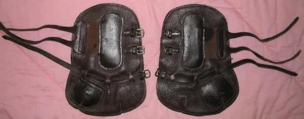 Leather Open Front Horse Warmblood Boots