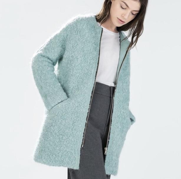Zara Zipped Coat XS Coat