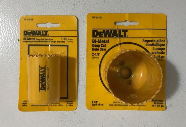 New DeWalt Bi-Metal Deep Cut Hole Saws from $10