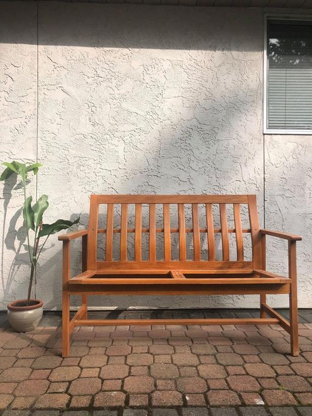 Solid Teak Sofa or Bench
