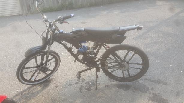 one of a kind motorized bike