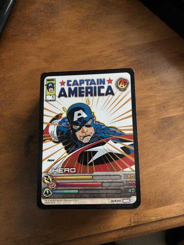 Marvel trading cards