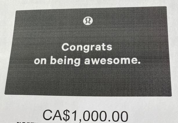 $1000 Lulu Gift Card for $800