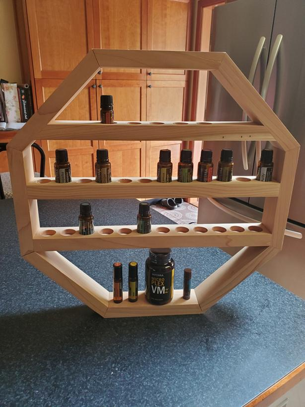 Essential oil storage shelf